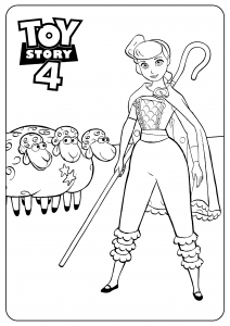 Bo Peep : Toy Story 4 coloring page
