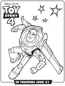 Buzz Lightyear : Toy Story 4 coloring page (Disney / Pixar)