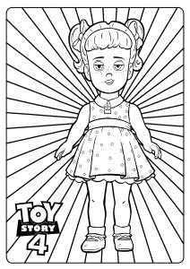 Gabby Gabby : Incredible Toy Story 4 coloring pages