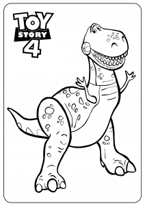 Rex : Cool Toy Story 4 coloring pages