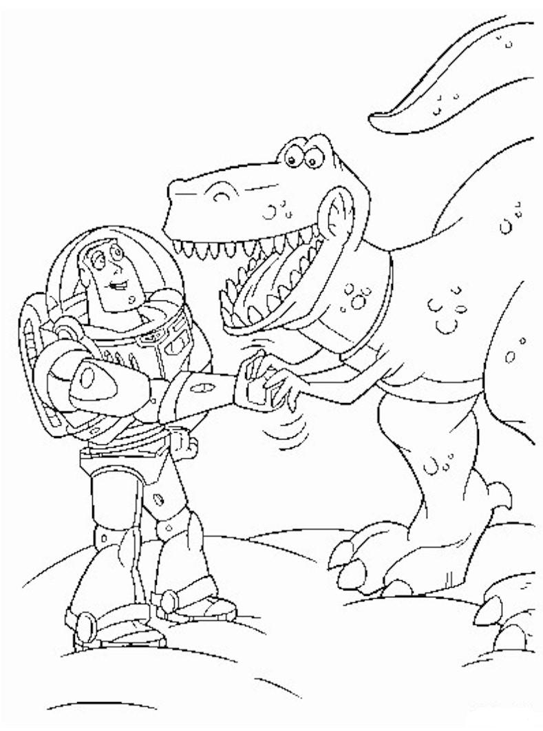 Buzz Lightyear and Rex   Toy Story Kids Coloring Pages