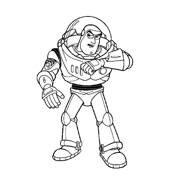buzz lightyear is calling story coloring pages