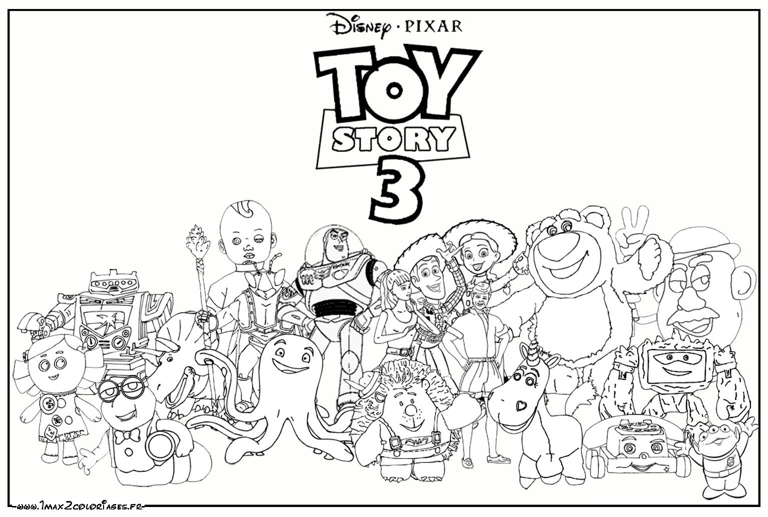 Coloriage Disney Woody.Woody Buzz Lightyear Jessy Rex Hamm Zigzag Toy