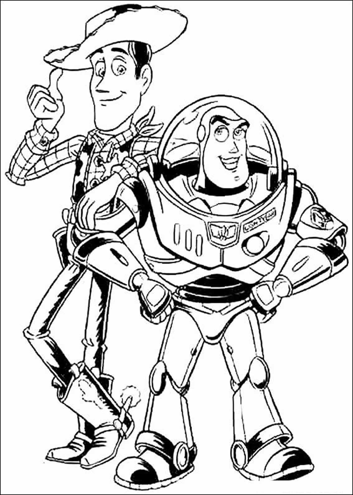 Woody and Buzz Lightyear - Toy Story Kids Coloring Pages