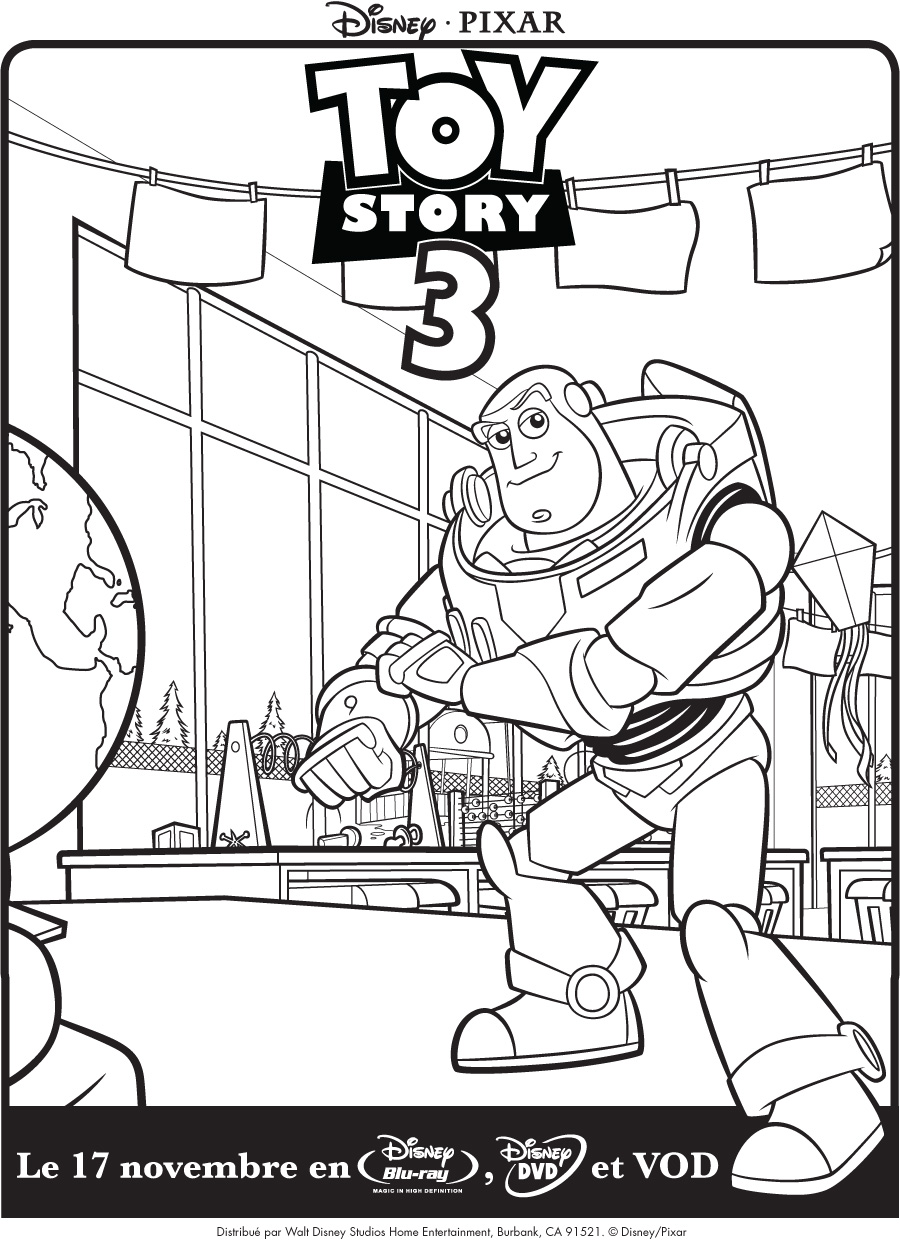 Simple Toy Story Coloring Page For Kids