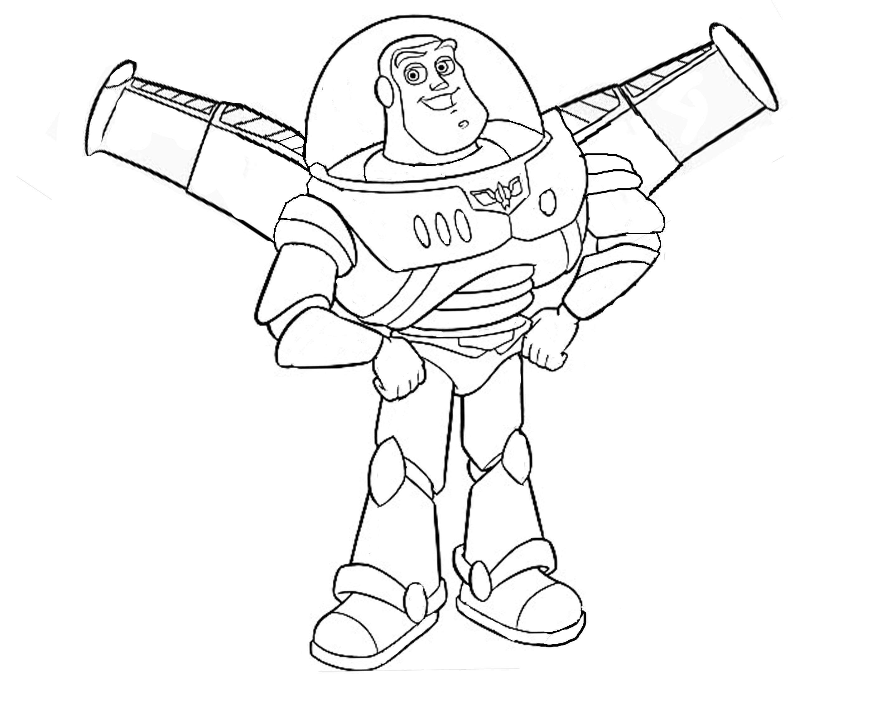 Buzz Lightyear With His Wings Toy Story Kids Coloring Pages