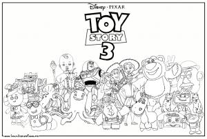 Woody, buzz Lightyear, Jessy, Rex, Hamm, Zigzag .....