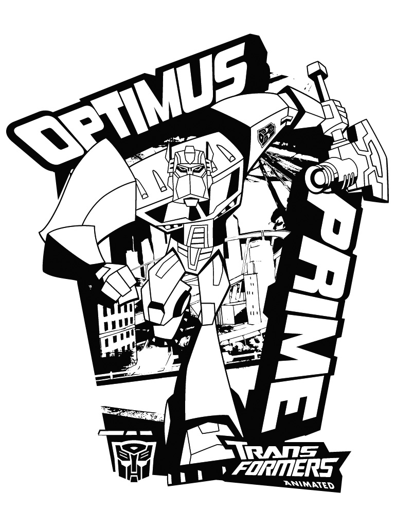 Free Transformers Coloring Pages Optimus Prime, Download Free Clip ... | 1024x768