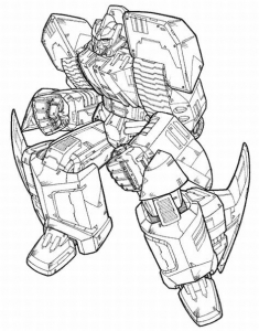 Coloring page transformers free to color for kids
