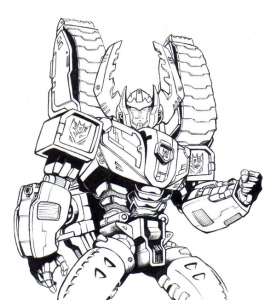 Coloring page transformers to color for children