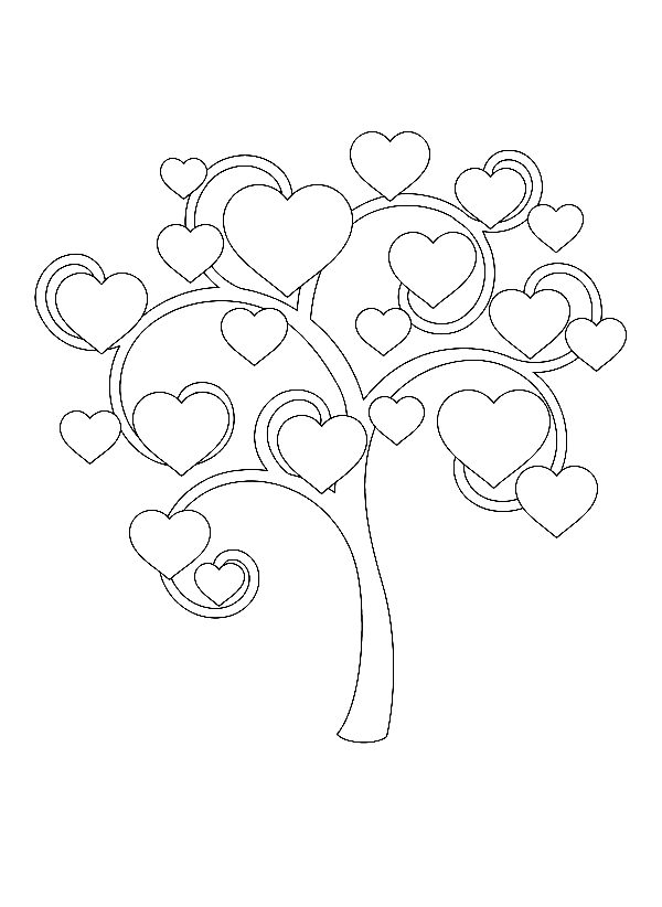 Funny Trees coloring page for children