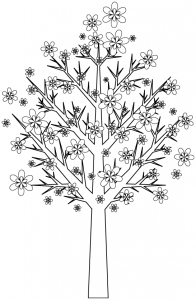 Coloring page trees free to color for kids
