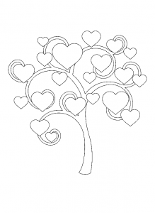 Coloring page trees to print
