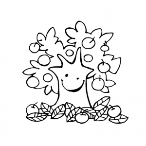 Coloring page trees to color for children