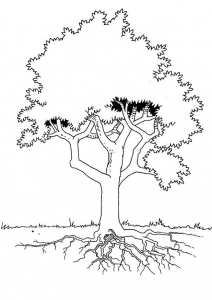 Coloring page trees for children