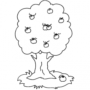 Coloring page trees free to color for children