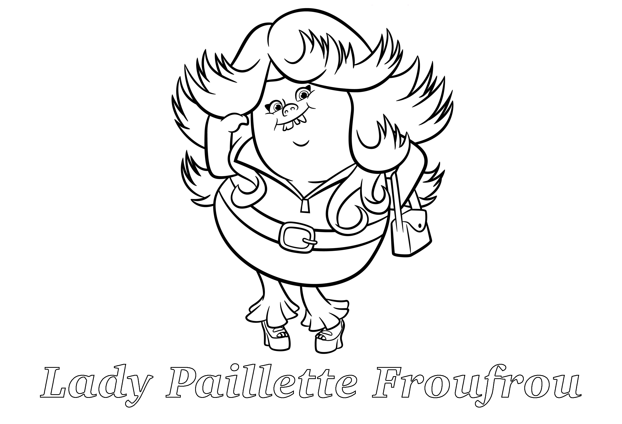 Free Trolls Coloring Page To Print And Color