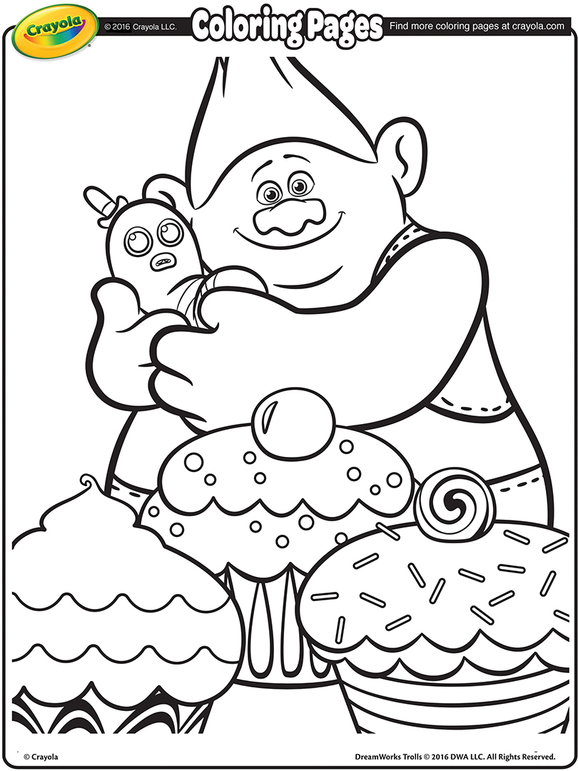 Trolls coloring page to download for free