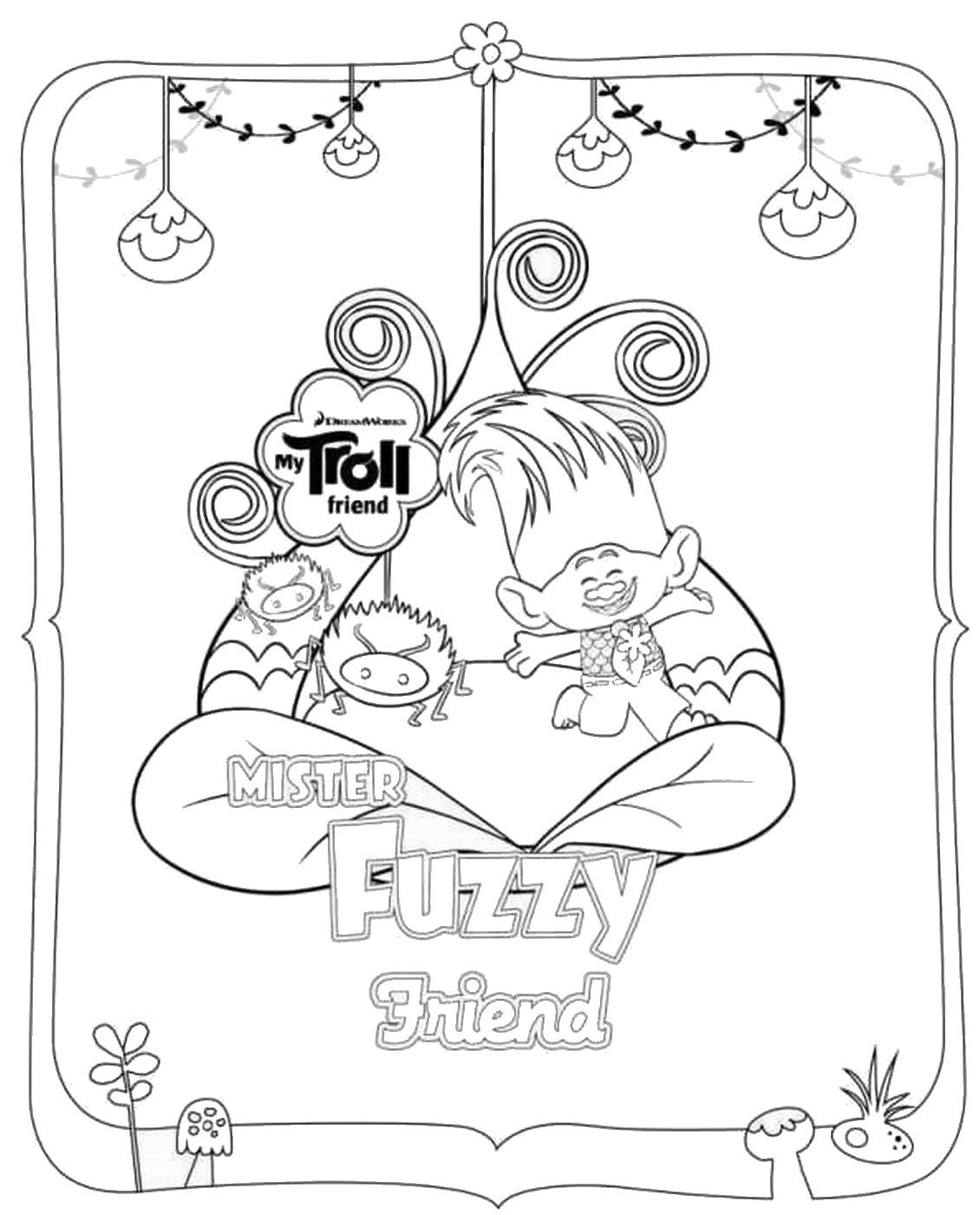 trolls movie coloring pages Trolls to download   Trolls Kids Coloring Pages trolls movie coloring pages