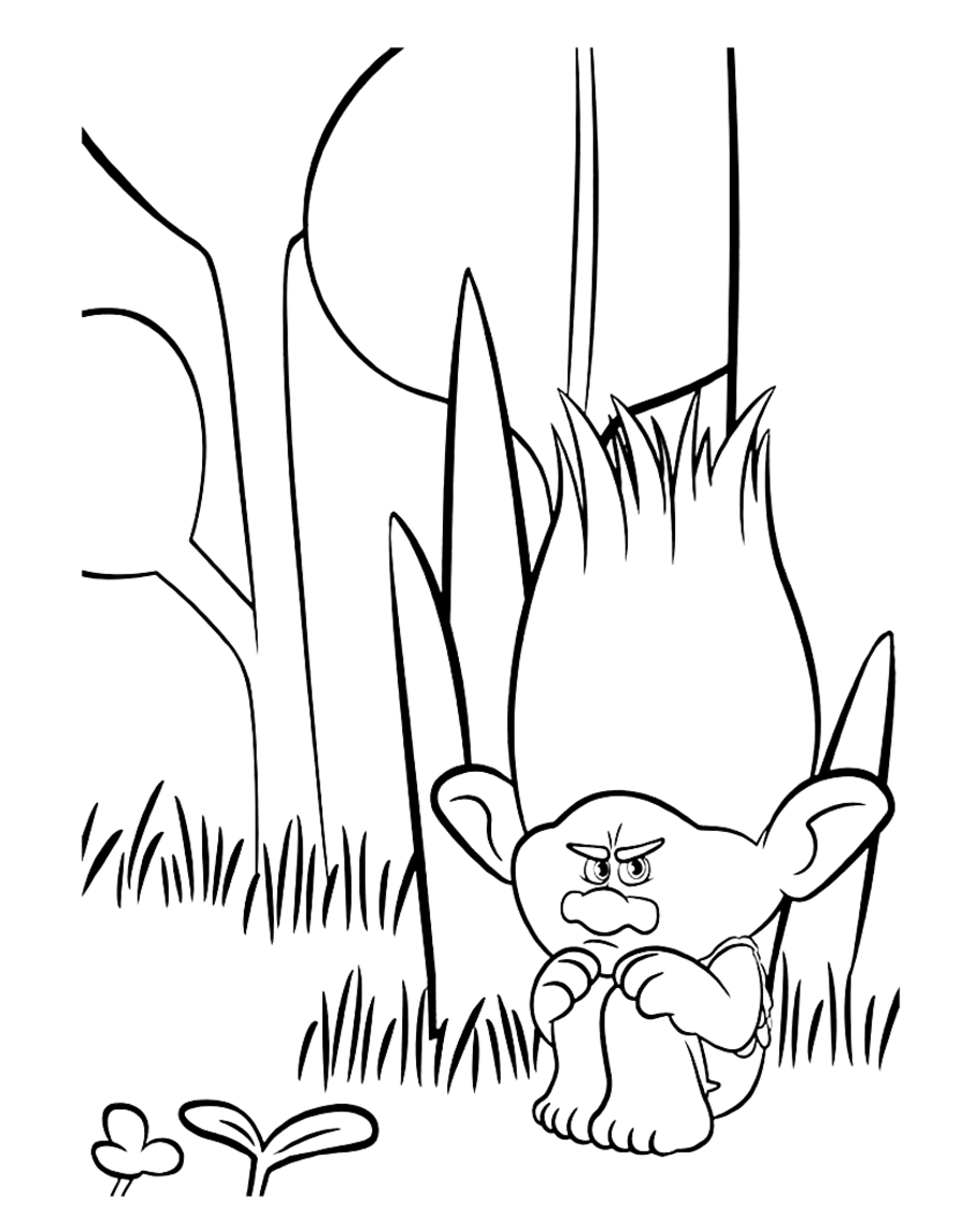 Simple Trolls coloring page