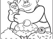 Trolls Coloring Pages for Kids