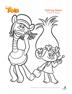 Coloring page trolls for children