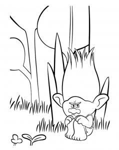 Coloring page trolls to color for children