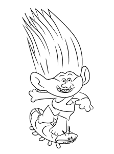 Coloring page trolls to download for free