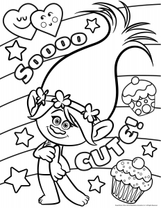 picture regarding Printable Trolls Coloring Pages known as Trolls - Free of charge printable Coloring internet pages for youngsters
