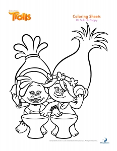 Coloring page trolls free to color for kids