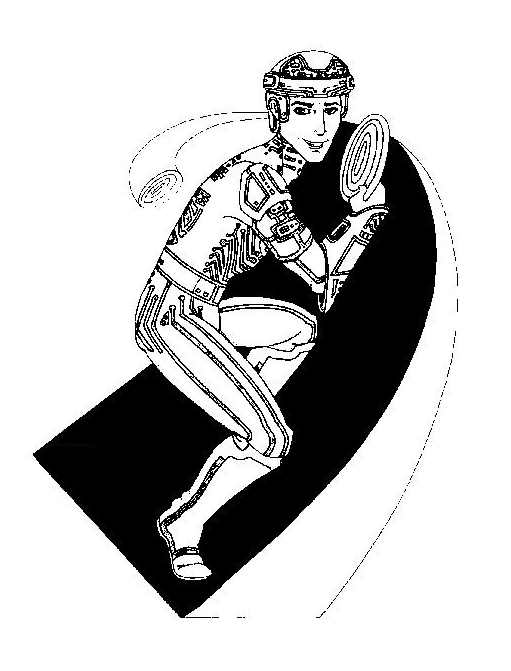 Beautiful Tron coloring page