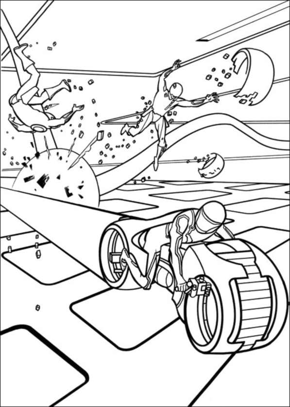 Tron coloring page to print and color