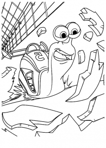 Coloring page turbo to color for kids
