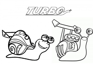 Coloring page turbo free to color for kids