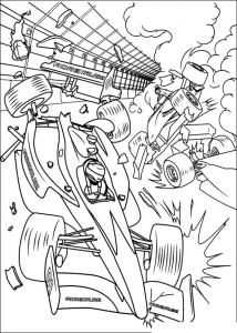 Coloring page turbo to download
