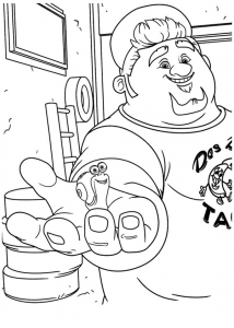 Coloring page turbo free to color for children