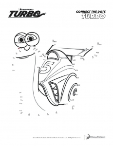 Coloring page turbo for children