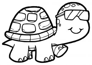 Coloring page turtles to print for free
