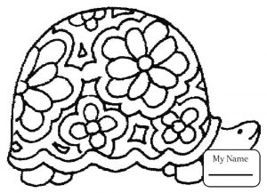 Coloring page turtles to color for children