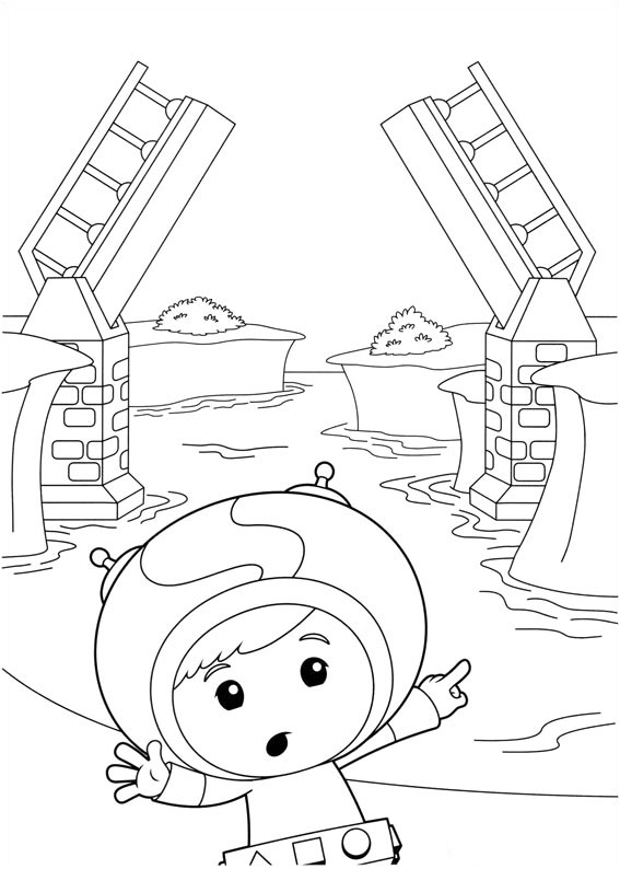 Umizoomi coloring page with few details for kids