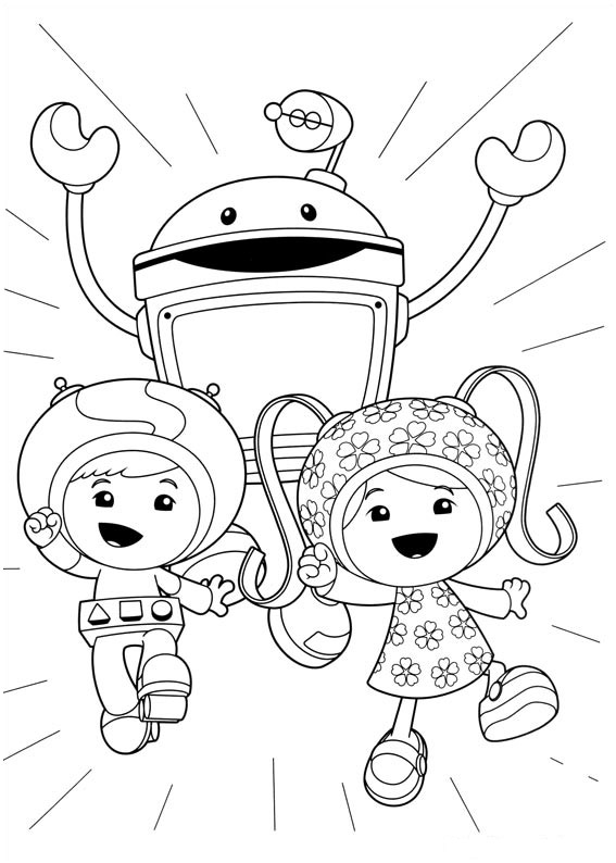 Funny free Umizoomi coloring page to print and color