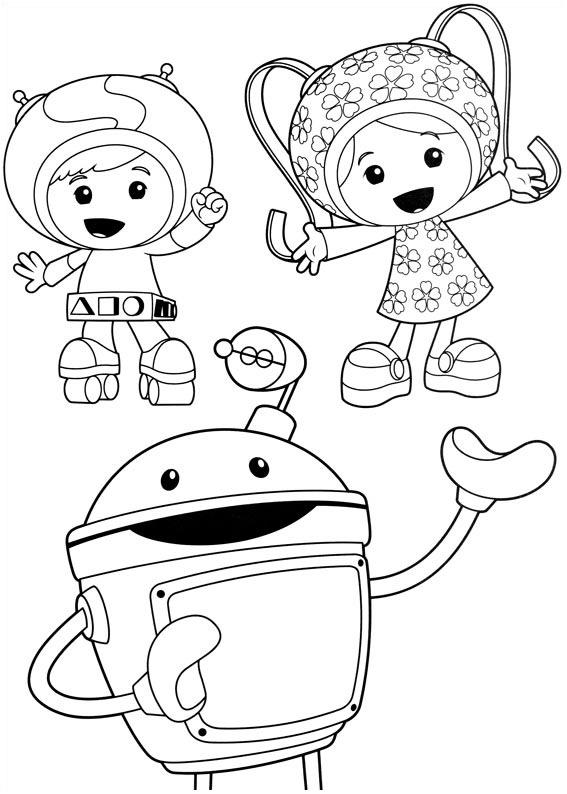 Beautiful Umizoomi coloring page
