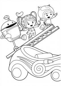 Coloring page umizoomi for children