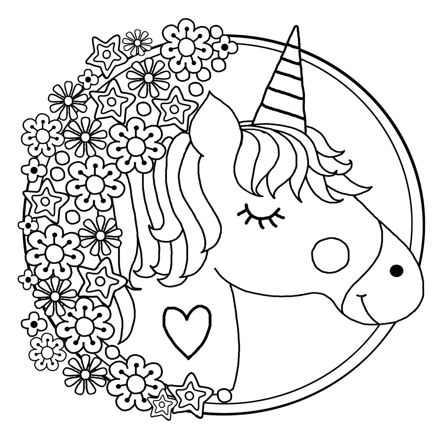 Unicorns Free To Color For Kids Unicorns Kids Coloring Pages