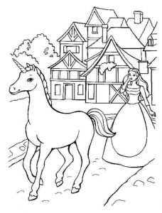Coloring page unicorns for children