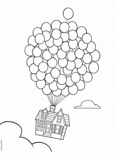 Coloring page up for children