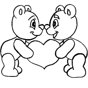 Coloring page valentines day to color for kids