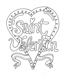 Coloring page valentines day for kids