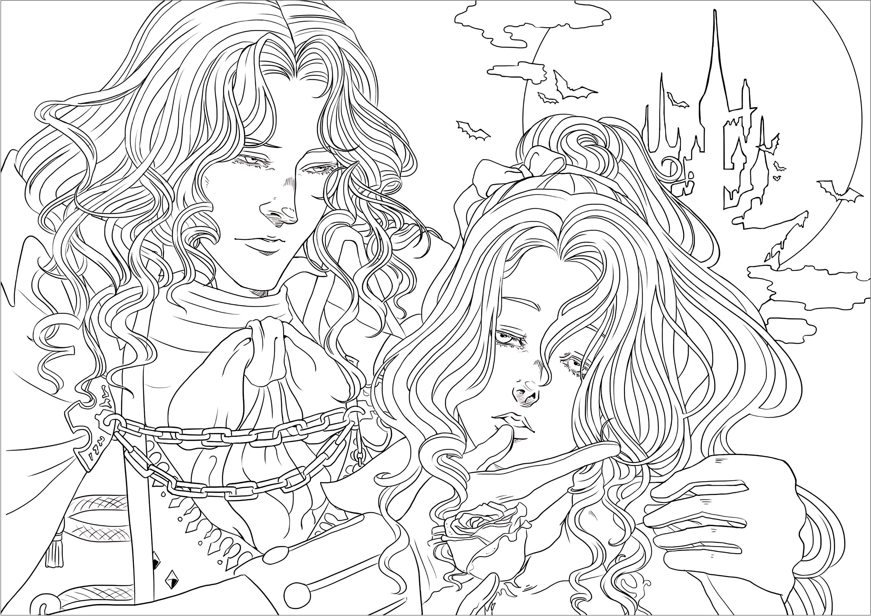 550 Coloring Pages Vampire For Free