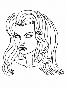 Coloring page vampires to print
